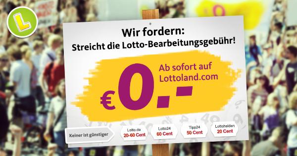 Lottoland Bearbeitungsgebühr