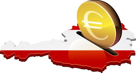 Euro Münze in Österreich