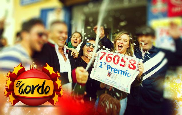 El Gordo Gewinner feiern gemeinsam