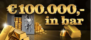 € 100.000,- in bar Rubbellos