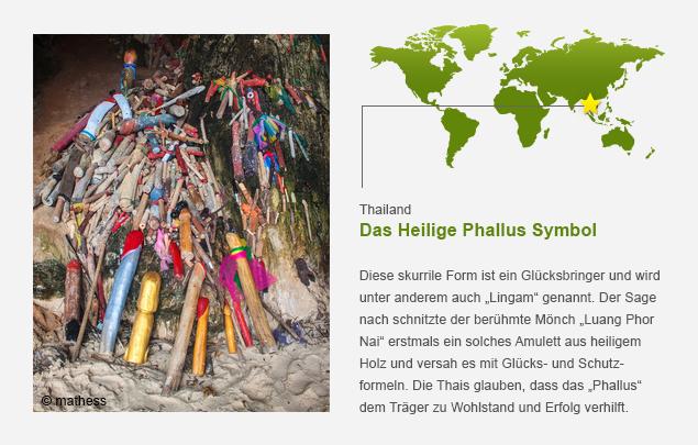 Grafik zu den Phallus-Symbolen Thailands
