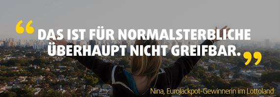 Zitat der EuroJackpot-Gewinnerin