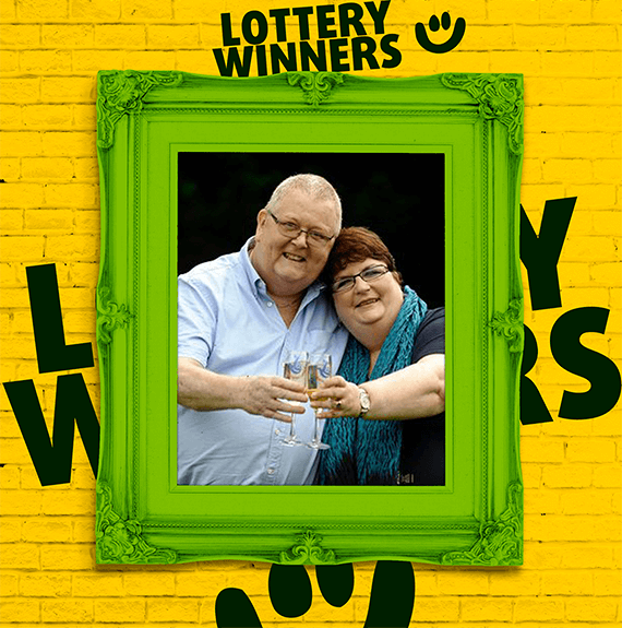 EuroMillions winners Colin and Chris Weir celebrating their lottery win drinking champagne