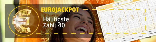 EuroJackpot - Häufigste Zahl: 40