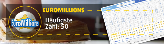 EuroMillions - Häufigste Zahl: 50