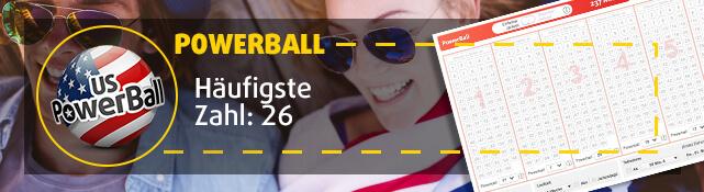 PowerBall - Häufigste Zahl: 26