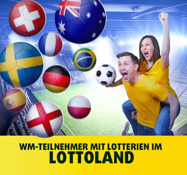 WM-Teilnehmer mit Lotterien im Lottoland