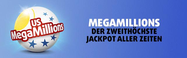 MegaMillions mit zweithöchstem Jackpot aller Zeiten