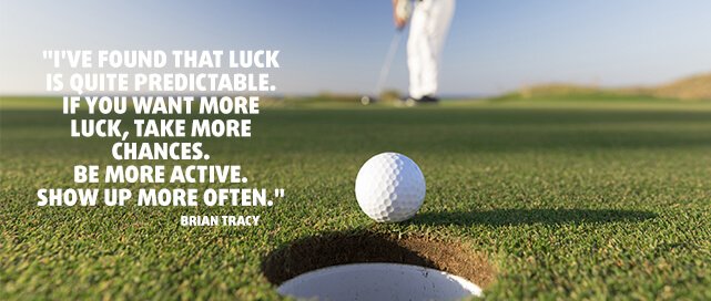 Brian Tracy Quote about Luck
