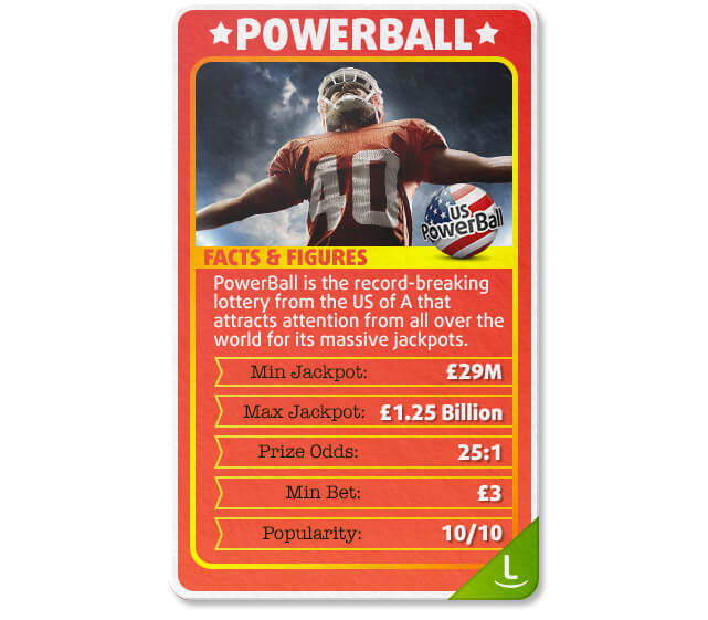 PowerBall is the best lottery for big jackpots to bet on from the UK