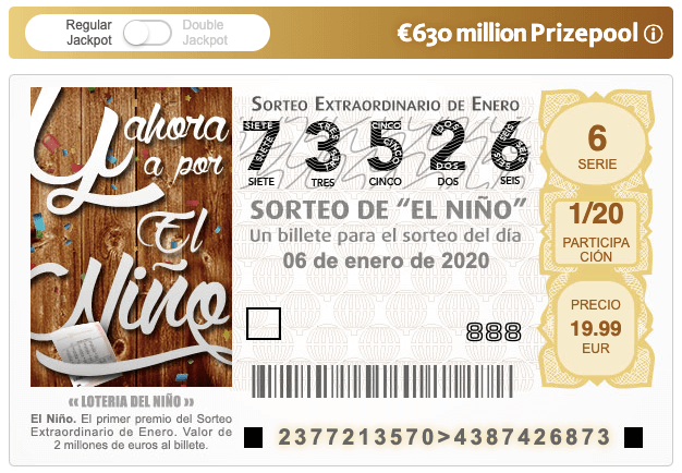 El Niño Spanish Lottery ticket