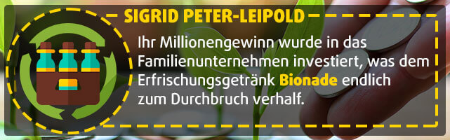 Lottogewinnerin Sigrid Peter-Leipold - Bionade