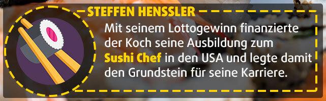 Lottogewinner Steffen Henssler - Sushi Chef
