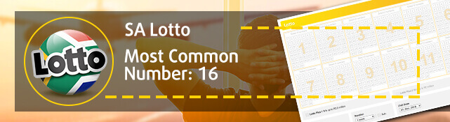 SA Lotto - Most common number: 16