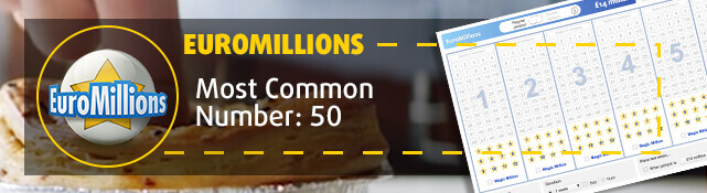 EuroMillions - Most common number: 50