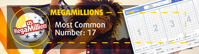MegaMillions - Most common number: 17