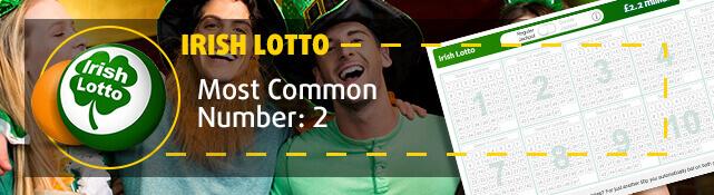 Irish Lotto - Most common number: 2