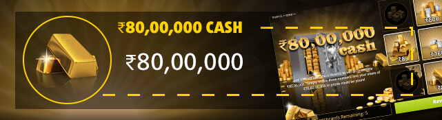 Win the top prize of ₹80,00,000 with the ₹80,00,000 Cash scratchcard