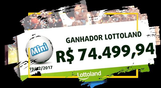 Cheque com o prêmio do  ganhador anônimo do Brasil da loteria MINI lotto