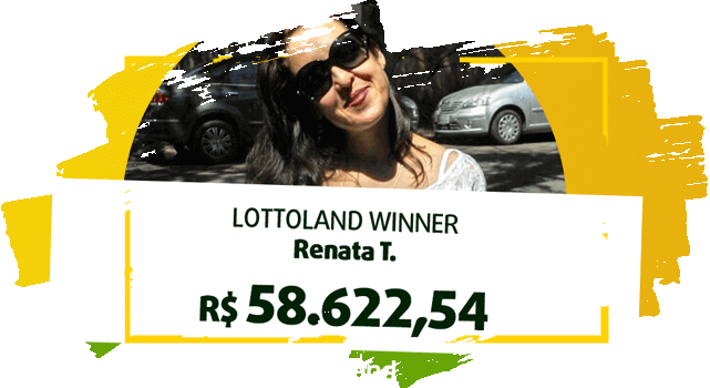 Renata, ganhadora na Mega-Sena segura cheque com prêmio