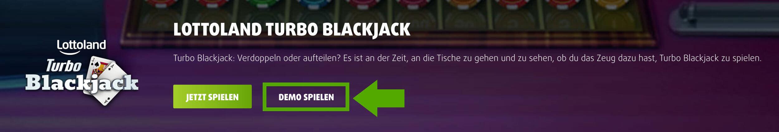 Turbo Blackjack - online im Lottoland Demo spielen