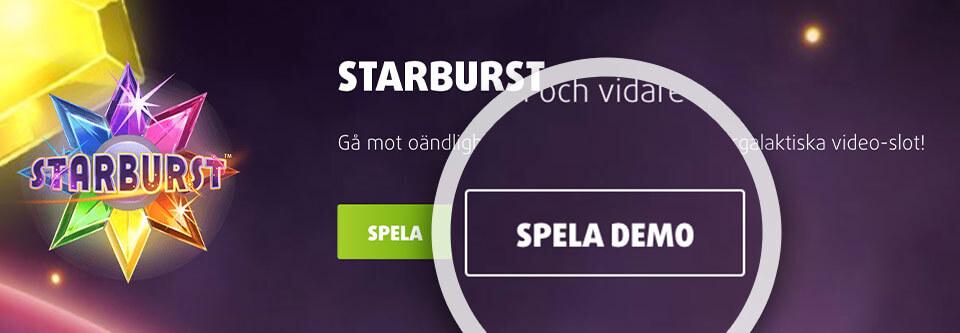 Starburst online - demo