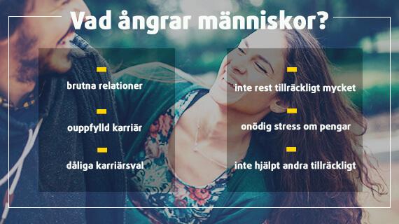 Lista på saker människor ångrar mest i livet.
