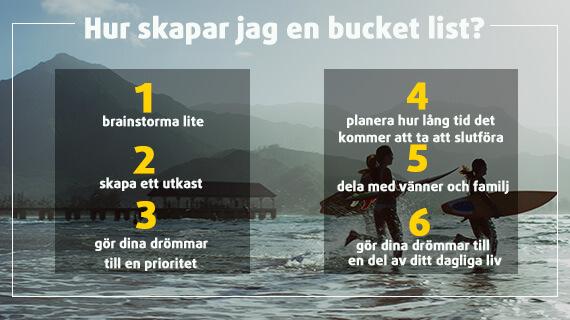 Lista på 6 steg för att skapa din ultimata Bucket List