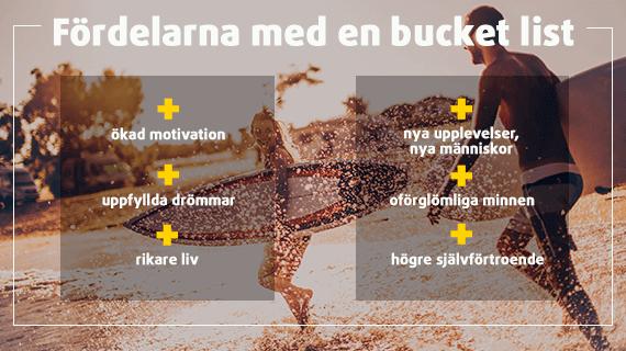 Lista på 6 fördelar med en Bucket List