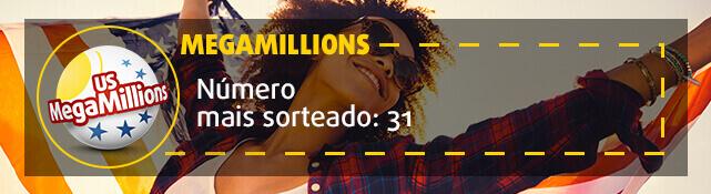 MegaMillions - o número mais sorteado 31