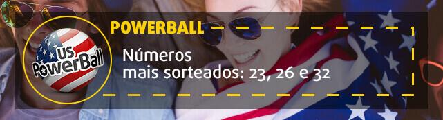 PowerBall - números mais sorteados: 23, 26 e 32