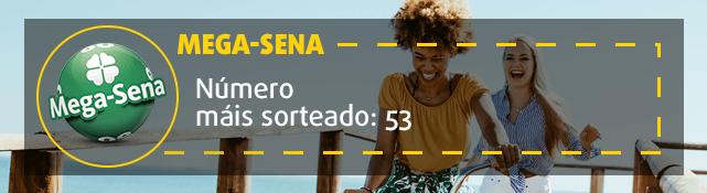 Número mais frequente da Mega-Sena: 53