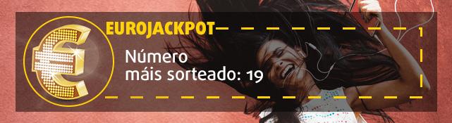 Número mais frequente da EuroJackpot: 19